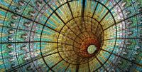 Stained Glass Ceiling- Palau de la Musica Catalana in Barcelona