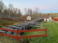 Canal diverging water to water wheel
