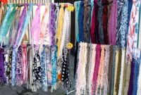 Scarves in a market