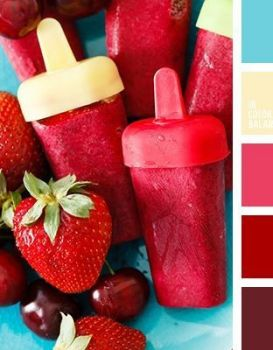 Strawberry & Cherry Popsicles