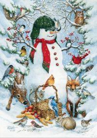 'Woodland Snowman' by Kathy Goff