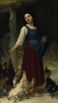 The Farmer's Daughter by Elizabeth Jane Gardner Bouguereau