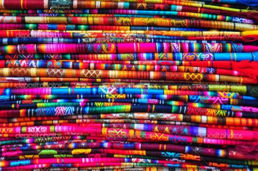 Brightly Coloured Fabric
