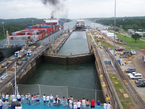 Transit through Locks or Panama Canal