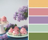 Pink Icing and Purple Flowers