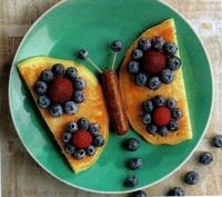 Blue Blueberry Butterfly Pancakes- Food Play
