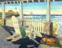 Morning Coffee at the Beach House by Robin Wethe Altman