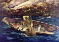 Newell Convers (N.C.) Wyeth--Deep Cove Lobster Man, ca.1938