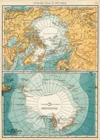 Map North And South Pole Regions