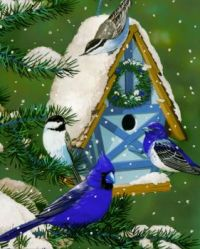 Winter Birdhouses #1