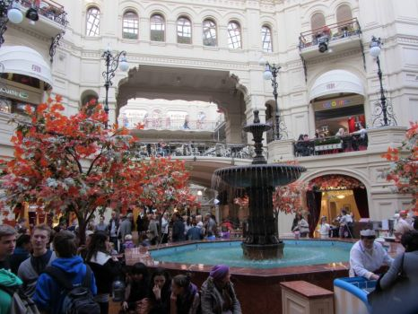 Inside GUM Dept. Store, Red Square, Moscow - About as high-end as you will find ANYWHERE