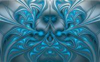 Ice Blue Ribbon Rorschach