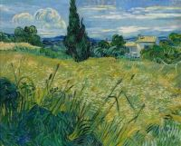 Vincent van Gogh - (1853 -. 1890) Green Wheat Field with Cypress, June 1889