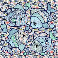 Four patterned fish
