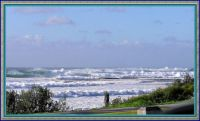 Mollymook pounding surf after the Storm.