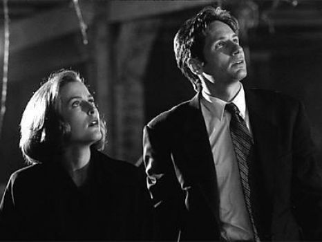 Gillian Anderson as Dana Scully and David Duchovny as Fox Mulder in the X-Files