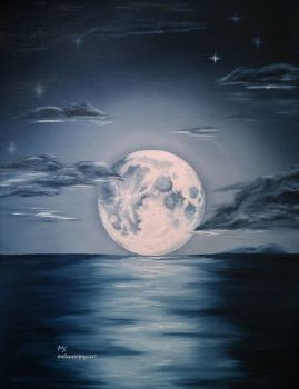 The Moon That Soothed The Siren ~ MELANIEJOY - difficult