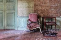 Broken chair in an old house