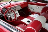 1951 Ford Victoria Red Custom interior
