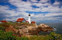 Cape Elizabeth Lighthouse in Spring