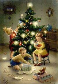 Christmas - Children Decorate Tree