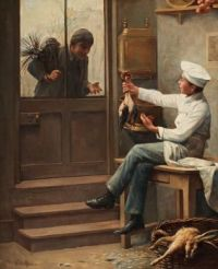 Paul Charles Chocarne-Moreau (France, 1855–1937), The Young Chef and his Friend the Chimney Sweeper (1893)