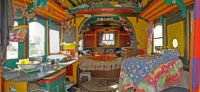 Inside a gypsy wagon