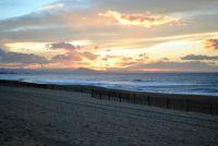 Sunset on Anglet's beach