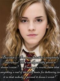 Hermione - She's got a point there!