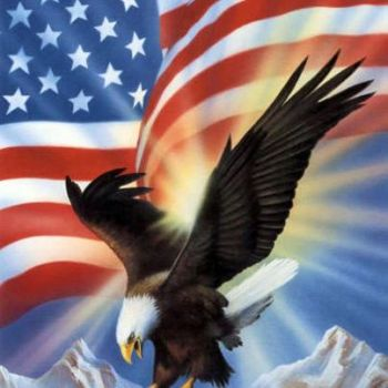 American Eagle and our Flag