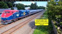 Amtrak train 281, Engine #108 at Fairport NY 45-pc