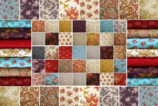 Fabric patchwork - Atelier by Moda Fabrics