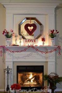 Valentine Day Mantel