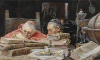 José Gallegos y Arnosa (Spanish, 1859–1917), In the Library (1902)