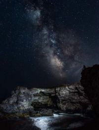 Rock arch and billions of stars