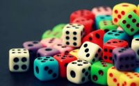 Colourful dice cubes