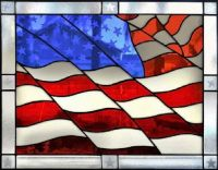 THEME:  Happy 4th of July  ~  Stained Glass Flag