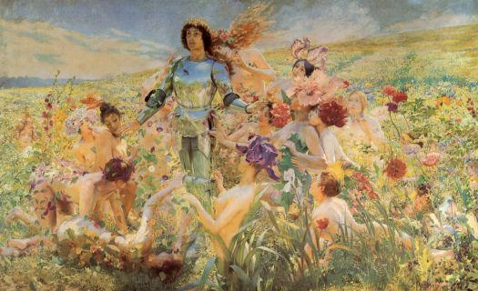 Rochegrosse - The Knight of the Flowers