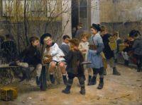 Henri Geoffroy (French, 1853–1924), L'Heure du Gouter (1882)