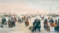 """Winter Scene on a Frozen Canal"" 1620-Hendrick Avercamp"