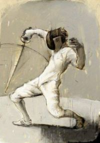 """Themes """"sports"""" -   Fencer"""