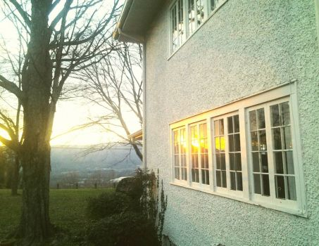 Home Sweet Home : sunset reflection on our house