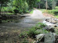 Road stream in Pennsylvania, USA