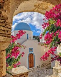 Lefkes village, Paros island, Cyclades, Greece