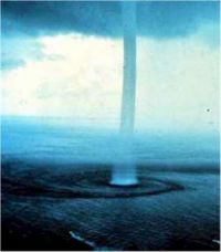 waterspout in the Bahamas