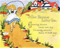 Themes Vintage illustrations/pictures - Happy Birthday Card