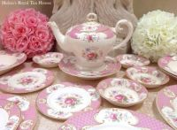 Pink Myott Staffordshire Rose Dishes