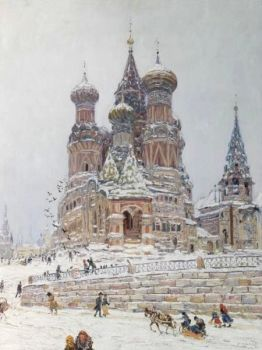 Church of St. Basil by Nikolay Nikanorovich Dubovskoy