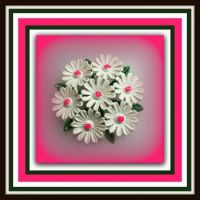 Vintage Pink and Green Brooch