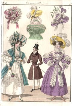 Regency Couple paper doll - small